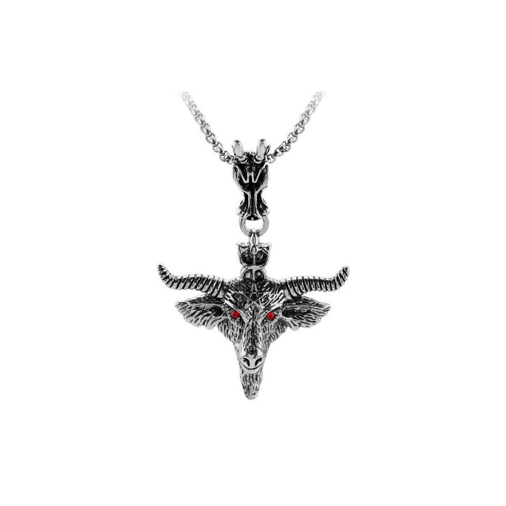 Pandantiv Medalion Lantisor Colier Pentagrama M2 ZUMPENTA001