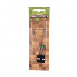 Pandantiv Medalion Lantisor Colier Minecraft Enderman Face Original ZUM7944 Medalioane / Coliere