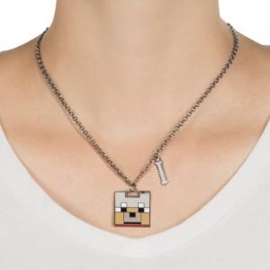 Pandantiv Medalion Lantisor Colier Minecraft Tamed Wolf Face Original ZUM7947 Medalioane