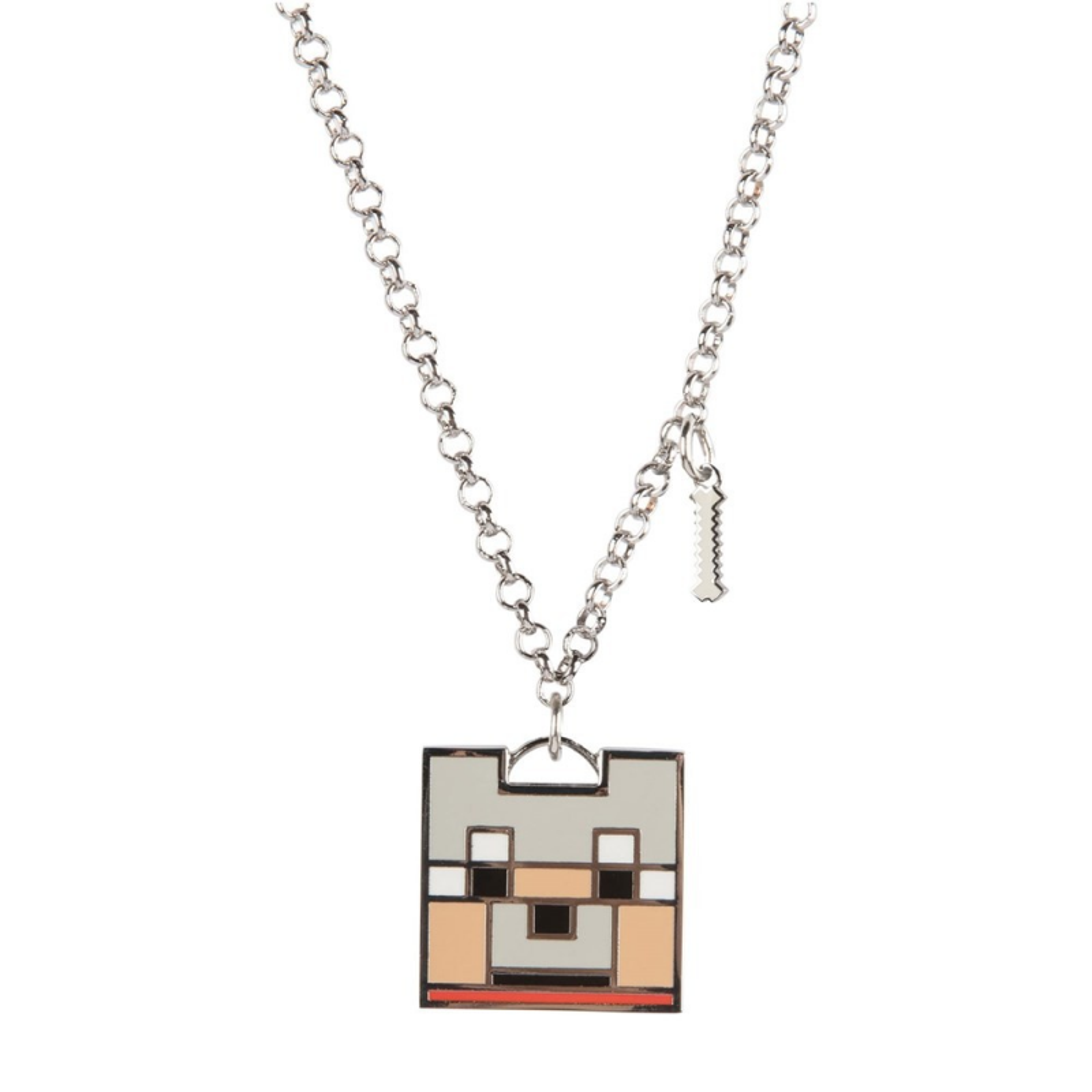 Pandantiv Medalion Lantisor Colier Minecraft Tamed Wolf Face Original ZUM7947