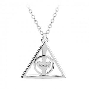 Pandantiv Medalion Lantisor Harry potter Triangle triunghi rotativ Always ZUM994 Medalioane
