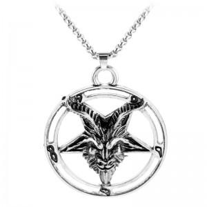 Lantisor Cu Pandantiv Pentagrama M3 , Argintiu ZUM993 Pentagrama Diverse Medalioane