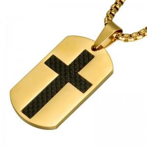 Pandantiv Medalion Lantisor ColierDog Tag Cruce - Inox + Lantisor - Multicolor zum878 Medalioane Inox