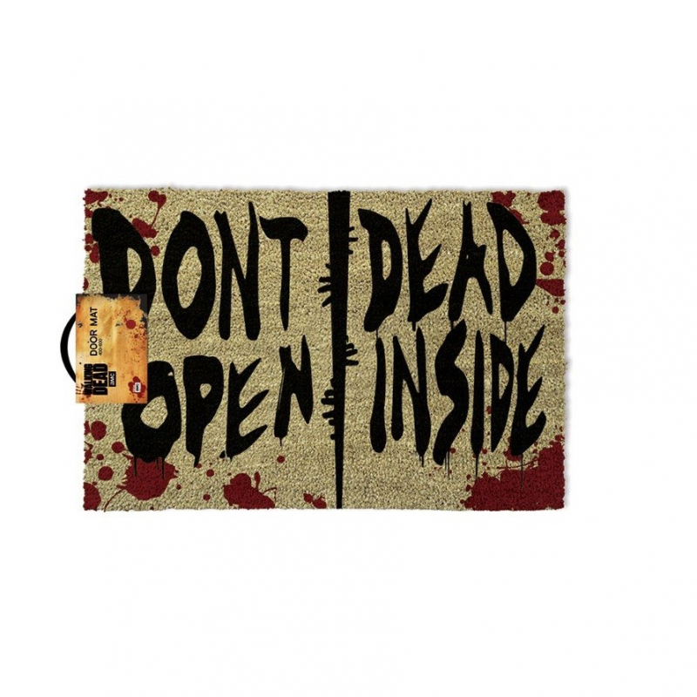 Covoras Intrare Walking Dead Don't Open Dead Inside 40 x 60 cm ZUMGP85126 Covorase intrare