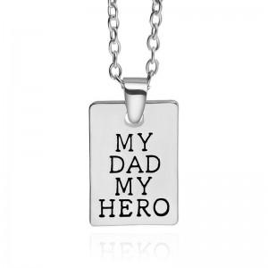 Lantisor Cu Pandantiv My Dad My Hero zum214  Diverse