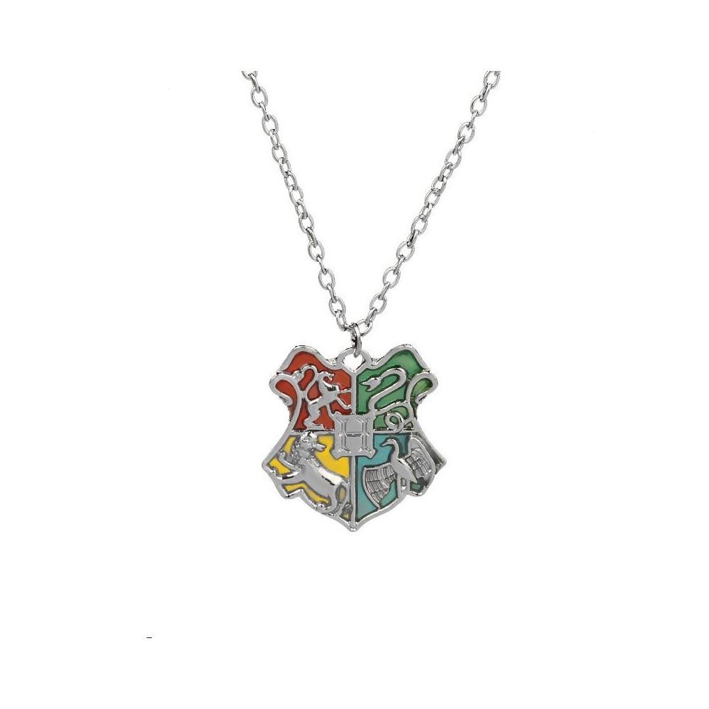 Lantisor cu Pandantiv Harry Potter Hogwarts School Argintiu med195 Harry potter Diverse