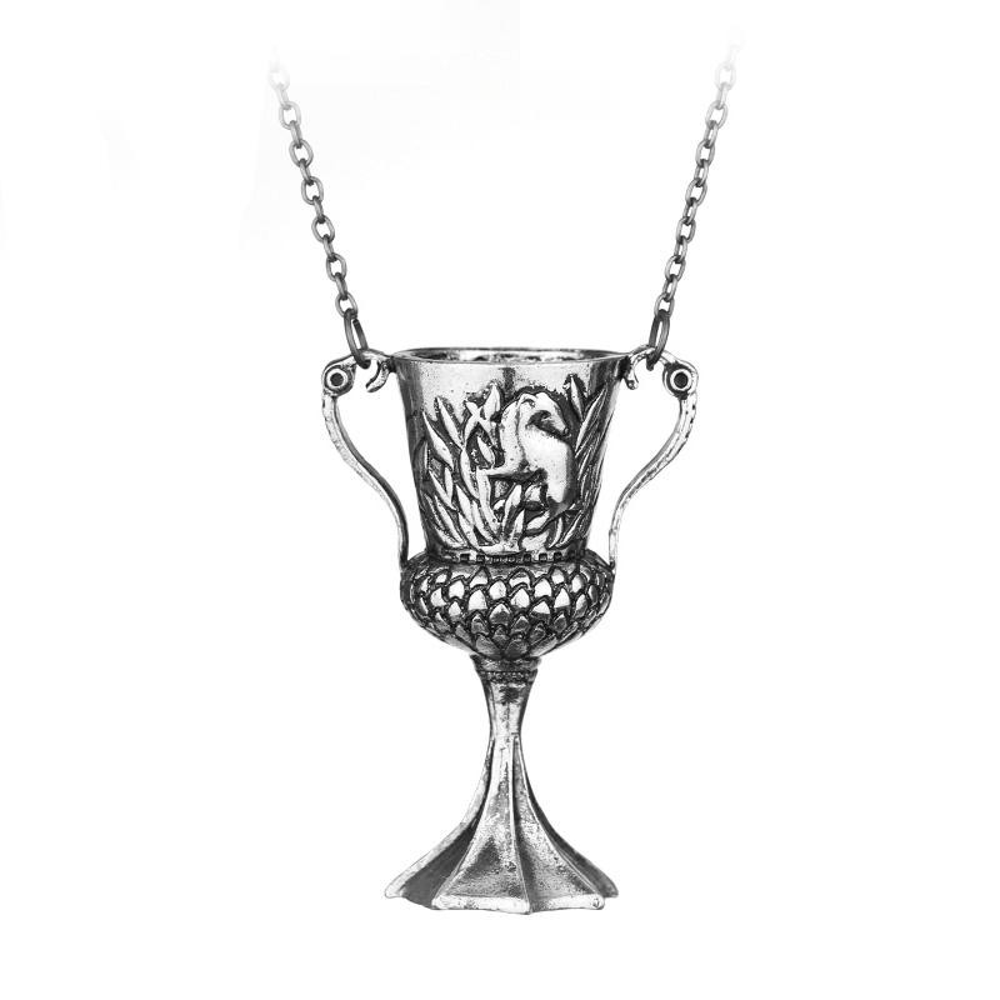 Lantisor Cu Pandantiv Cupa Helga Hufflepuff Horcrux Argintiu zum138 Harry potter Diverse