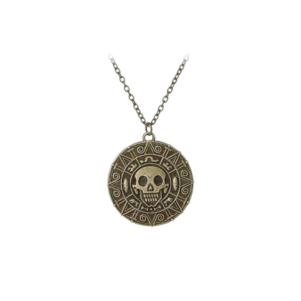 Lantisor cu Pandantiv Piratii Din Caraibe - Jack Sparrow - Aztec - Bronze med100 Piratii din Caraibe Diverse
