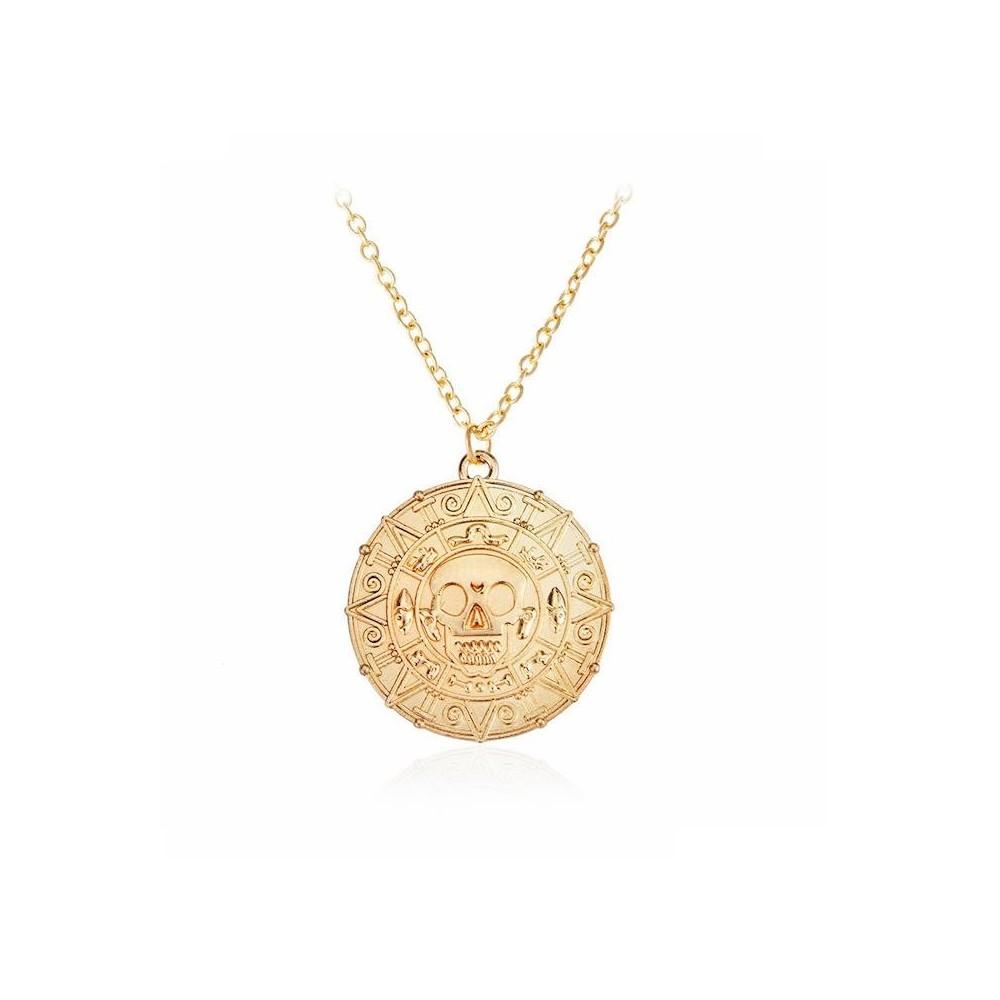 Medalion Lantisor Colier Piratii Din Caraibe - Jack Sparrow - Aztec med100 Medalioane