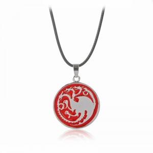 Pandantiv Medalion Lantisor Targaryen Game Of Thrones zum0090 Medalioane