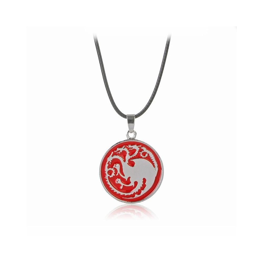 Lantisor Cu Pandantiv Game Of Thrones Targaryen Dragoni , Rosu zum0090 Game of Thrones Diverse