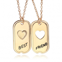 Pandantiv Medalion Colier Lantisor - BFF BEST Friend FRIENDS SET 2 BUC 89 Best Friends