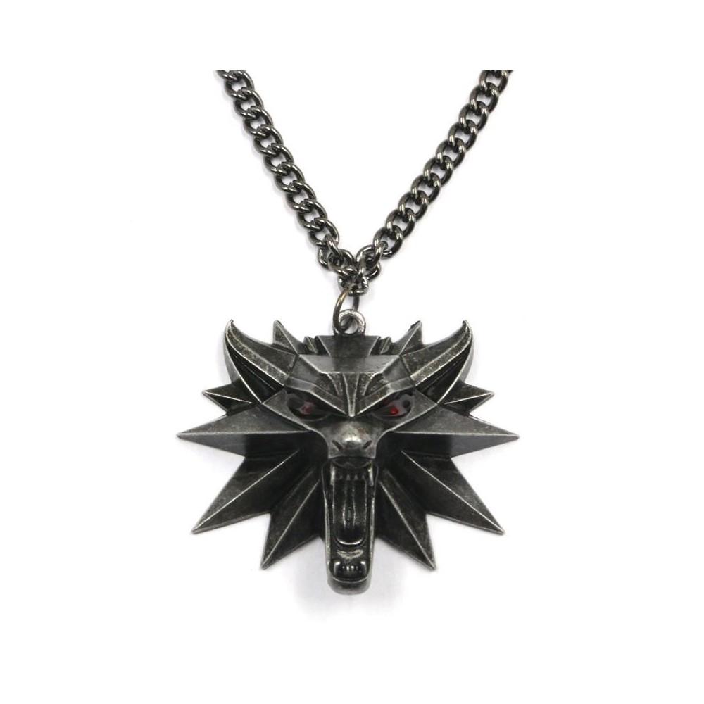 Pandantiv Medalion Lantisor Colier The Witcher 3 Wild Hunt cu led - Jinx - Original JNXWLFMDLLNLED The Witcher 3 Medalioane T...