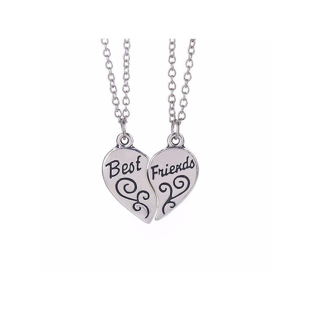Set 2 Lantisoare Cu Pandantive Best Friends Inima , zum778 zum778 Best Friends Medalioane BFF