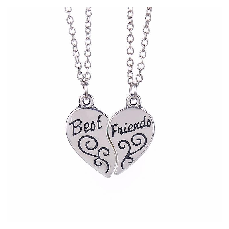 Set Medalioane Lantisoare Pandantive Inima Best Friends Friend zum778 Best Friends