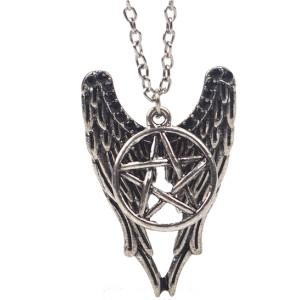 Pandantiv Medalion Lantisor Supernatural Pentagrama - Castiel ZUMMED3121SUPER Medalioane