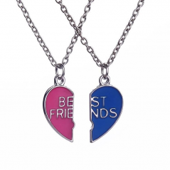 Set Lantisoare Medalioane Inima Best Friend Friends zum0011 Best Friends
