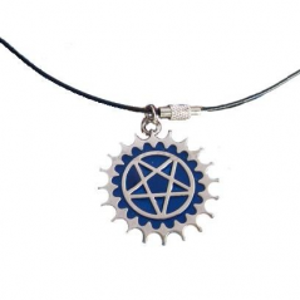 Pandantiv Medalion Lantisor pentagrama Black Deacon zum417 Medalioane
