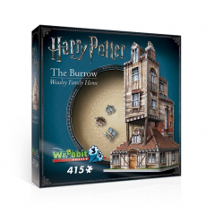 Puzzle 3D Harry Potter Weasley Family Home The Burrow 415 piese - Original W3D1011 Harry Potter Puzzle