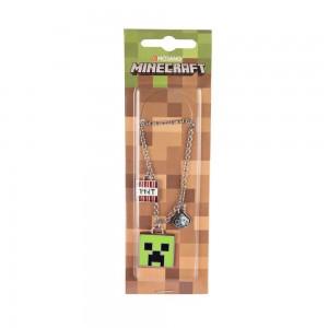 Pandantiv Medalion Lantisor Colier Minecraft Creeper Face Original ZUM7945
