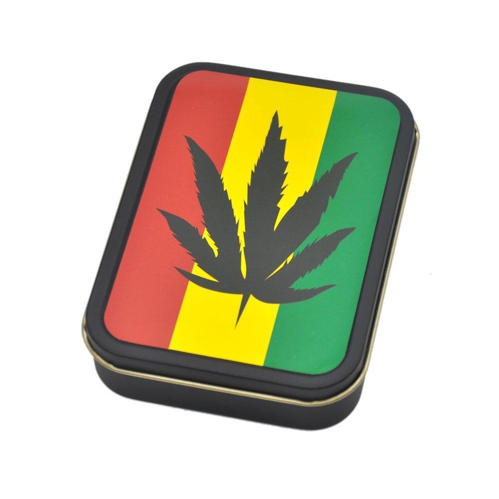 Cutie metalica depozitare Tutun Tigari Frunza Marijuana 151