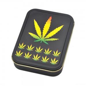Cutie metalica depozitare Tutun Tigari Frunza Marijuana 150 Articole si accesorii tutun