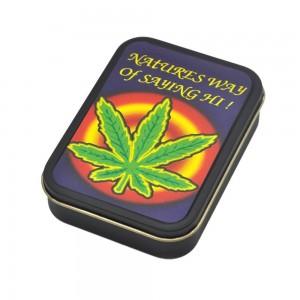 Cutie metalica depozitare Tutun Tigari Frunza Marijuana 149 Articole si accesorii tutun