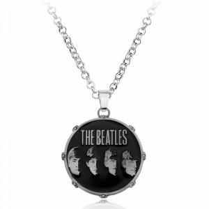 Lantisor Cu Pandantiv The Beatles , Argintiu zum301 The Beatles Diverse Medalioane