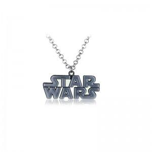 Lantisor Cu Pandantiv Star Wars Logo Argintiu zum305 Star Wars Diverse Medalioane