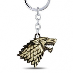 Breloc Game of Thrones Wolf Lup Bronze brl319 Game of Thrones Brelocuri