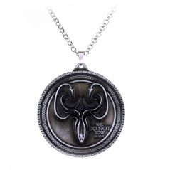 Pandantiv Medalion Game Of Thrones - House Greyjoy Necklace We Do Not Sow Game of Thrones zum320 Medalioane