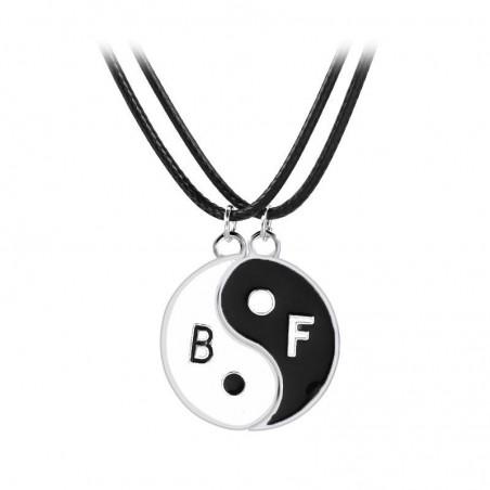 Set Medalioane Lantisoare Best Friend Friends Yin yang bff218 Best Friends