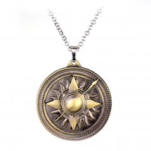 Lantisor Cu Pandantiv Game Of Thrones House Martell Bronze med322 Game of Thrones Diverse Medalioane