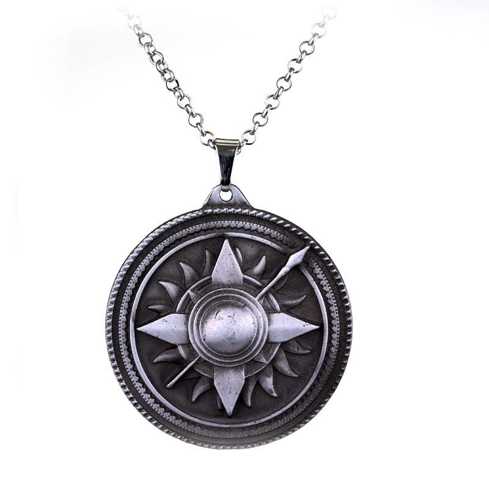 Lantisor Cu Pandantiv Game Of Thrones House Martell Argintiu med323 Game of Thrones Diverse Medalioane