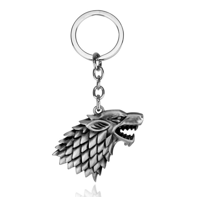 Breloc Game Of Thrones Wolf Lup Winter Is Coming Stark m1 Argintiu zum328 Game of Thrones Brelocuri