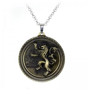 Lantisor Cu Pandantiv Game Of Thrones Lannister Hear Me Roar Bronze zum384 Game of Thrones Diverse Medalioane