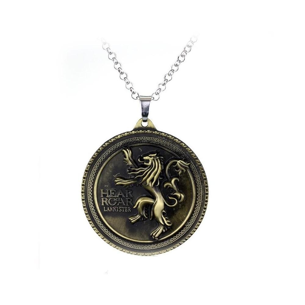 Pandantiv Medalion Lantisor Game Of Thrones Lannister Hear Me Roar Bronze zum384 Medalioane