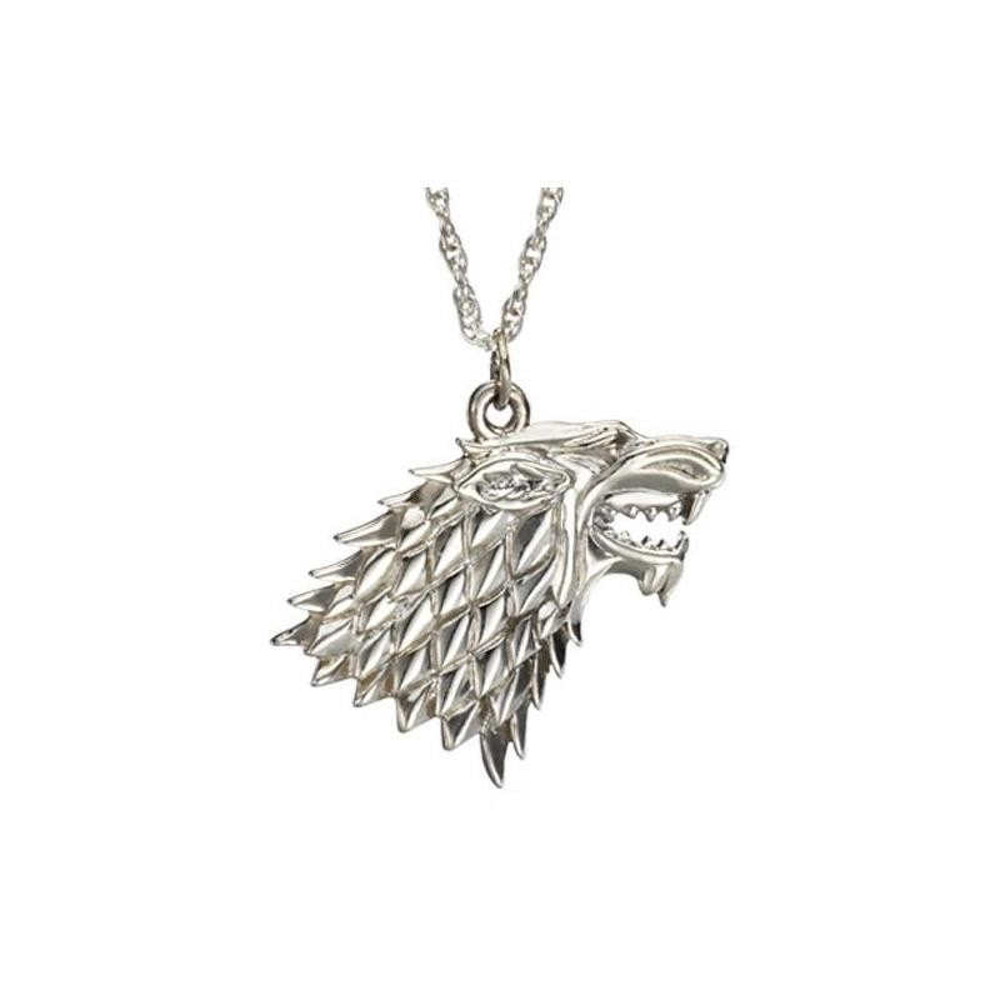 Pandantiv Medalion Lantisor Lup Game Of Thrones Silver med0064 Medalioane