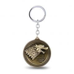 Breloc Game Of Thrones Lup Winter Is Coming Stark Bronze zum385 Fan Zone