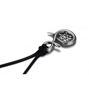 Pandantiv Medalion Colier Amuleta Pentagrama Sarpe Incolacit Inox zuminox2 Medalioane Inox