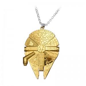 Pandantiv Medalion Lantisor Star Wars Space Ship Gold zum399 Medalioane
