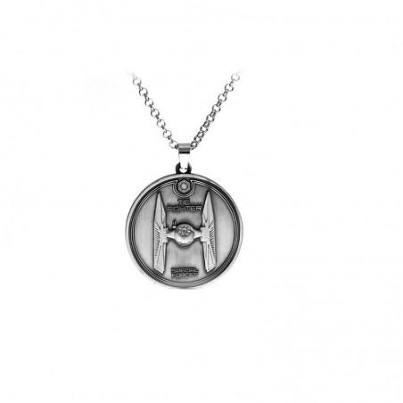 Pandantiv Medalion Lantisor Star Wars TIE fighter Silver zum400 Medalioane