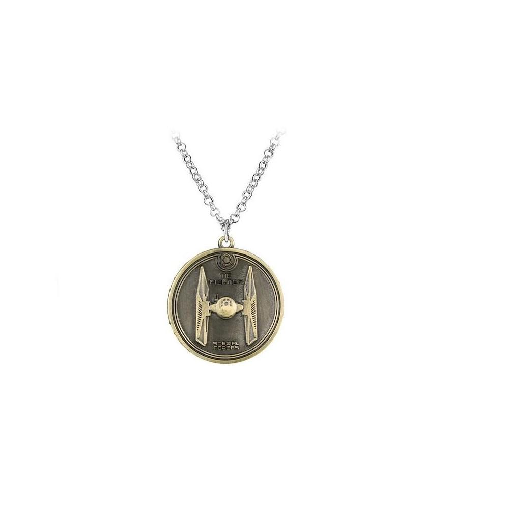 Pandantiv Medalion Lantisor Star Wars TIE fighter Bronze zum401