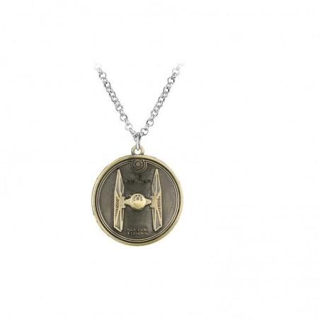 Pandantiv Medalion Lantisor Star Wars TIE fighter Bronze zum401 Medalioane