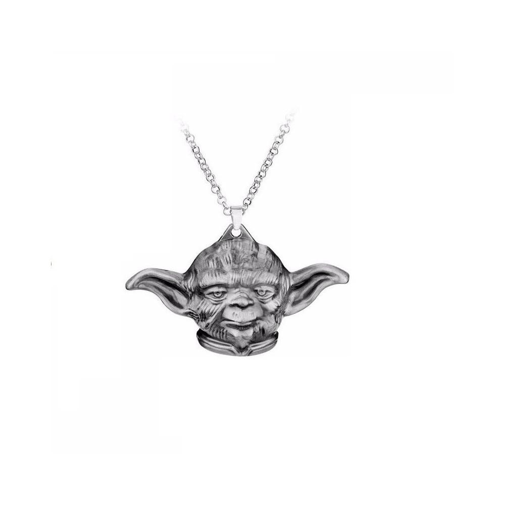 Lantisor Cu Pandantiv Star Wars Yoda Master Argintiu zum402 Star Wars Diverse Medalioane