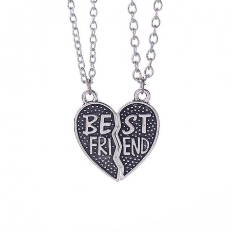 Pandantiv Medalion Lantisor - BFF BEST Friend FRIENDS Forever Inima bff0063 Best Friends