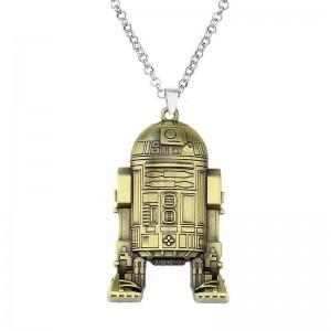 Lantisor Cu Pandantiv Star Wars Robot R2-D2 Bronze zum408 Star Wars Diverse Medalioane