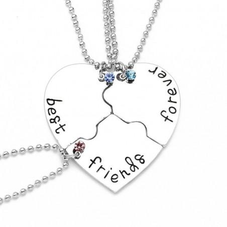 Set Medalioane Lantisoare Best Friend Friends Forever Inima (3 buc) med224 Best Friends