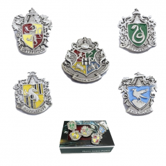 Set Insigne Harry Potter Hogwarts School Silver zum431 Insigne