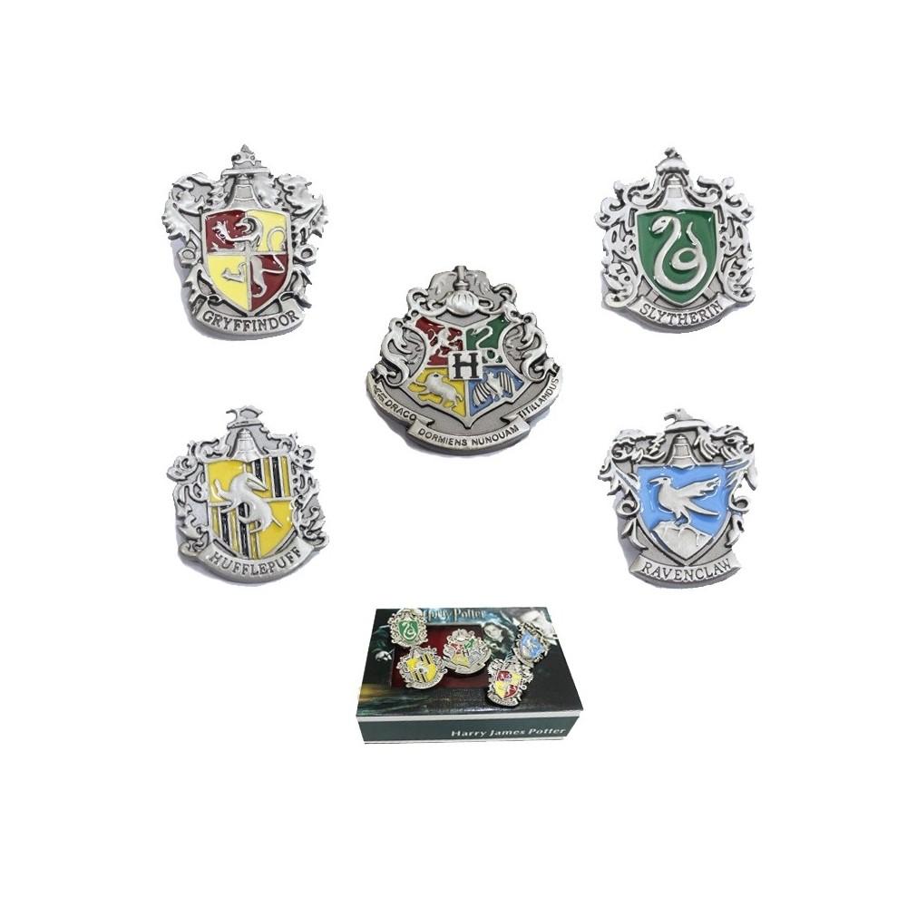 Set Insigne Harry Potter Hogwarts School Silver zum431 Brose